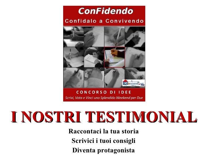 Testimonial Concorso di Idee ConFidendo