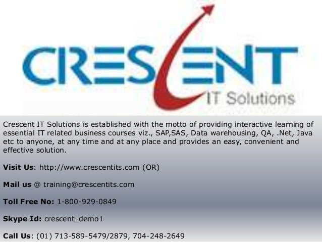 Crescent IT Solutions Received Valuable Feedback on Java