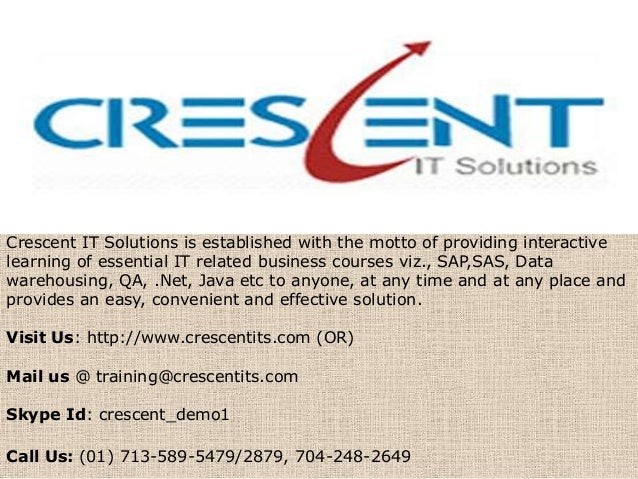 Crescent IT Solutions Received Valuable Testimonial on SAP SD Course