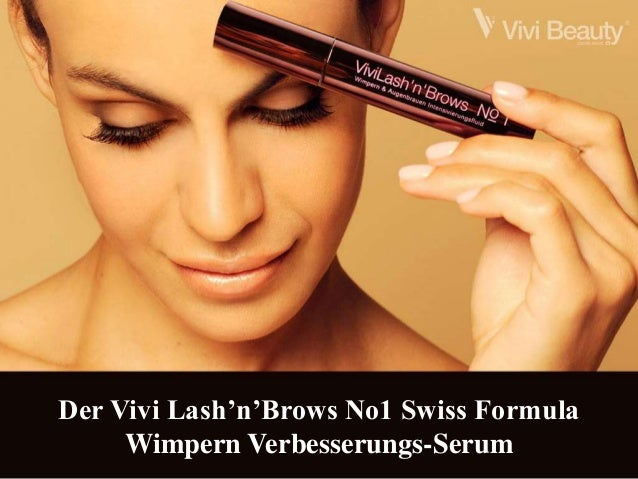 Der Vivi Lash'n'Brows No1 Swiss Formula  Wimpern Verbesserungs-Serum