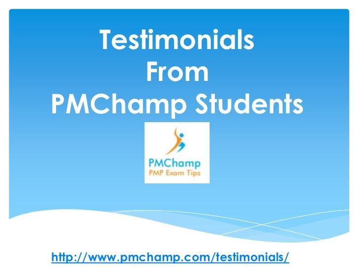 Testimonials from PMChamp Students