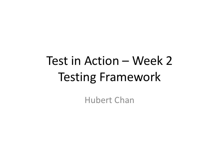 Test in action   week 2