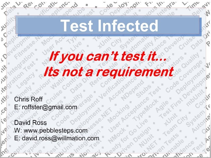 Test Infected Presentation