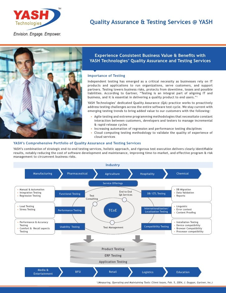 Quality Assurance & Testing Services @ YASH                                                            Experience Consiste...