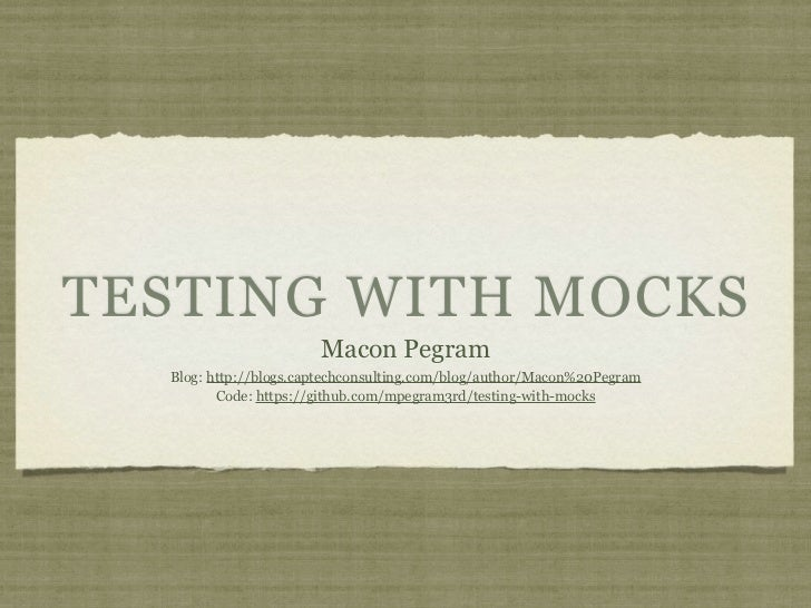 Testing w-mocks