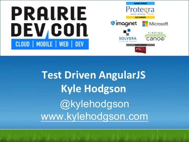 Testing AngularJS