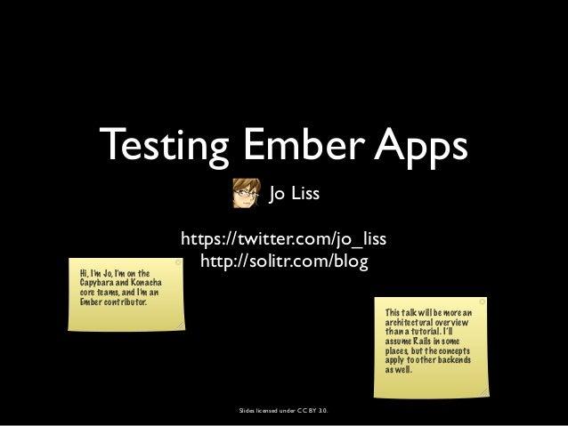 Testing Ember Apps