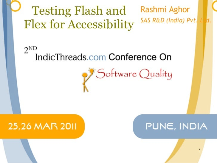 Testing flash and flex for accessibility indic threads-q11
