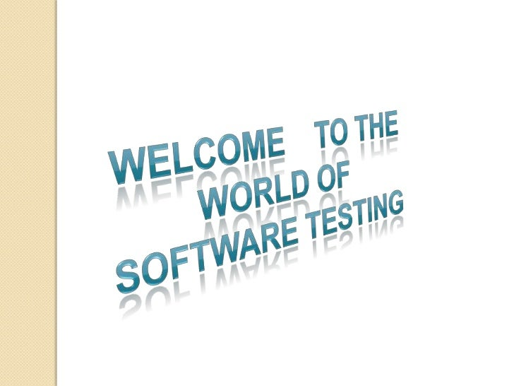 Software Testing notes