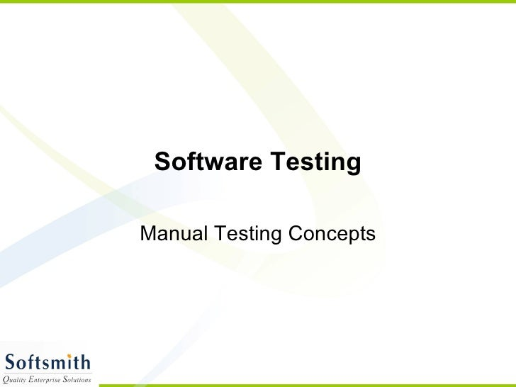 Software Testing Manual Testing Concepts