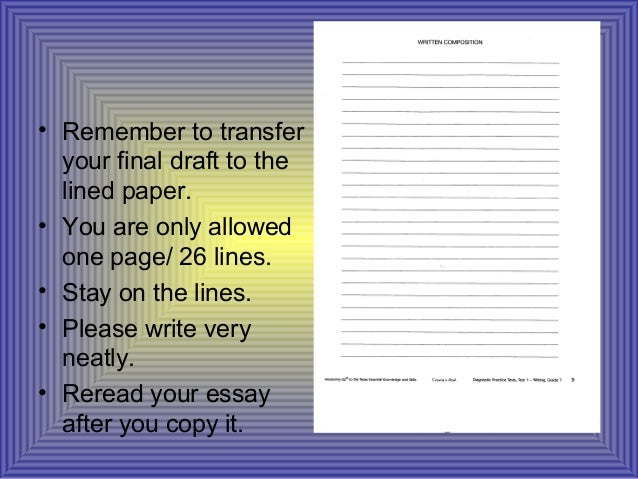 staar writing essay paper Released writing exemplars from texas education agency staar 4 and 7 writing: there has been no adaptation or adjustments to the exemplar essays.