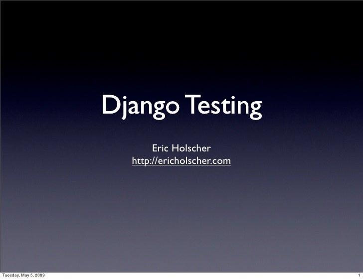 Django Testing