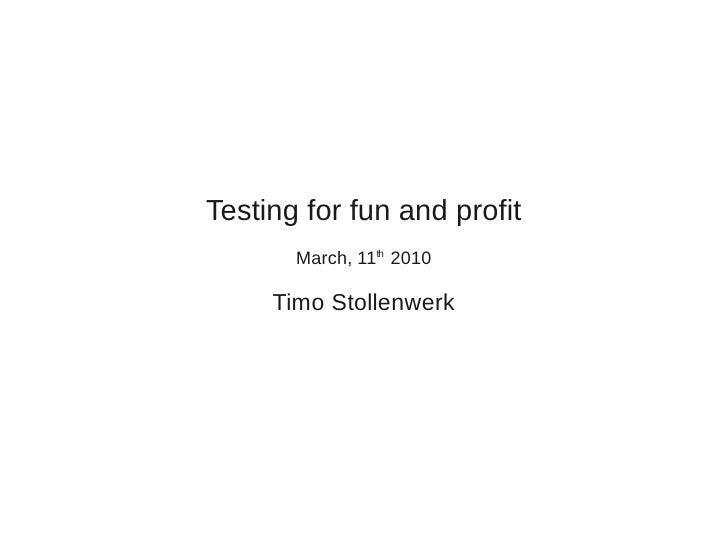 UPC Plone Testing Talk