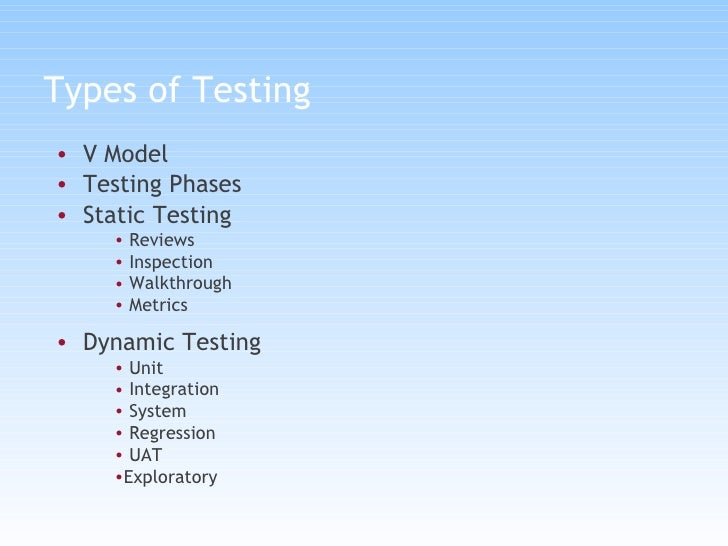 Testing Types And Models