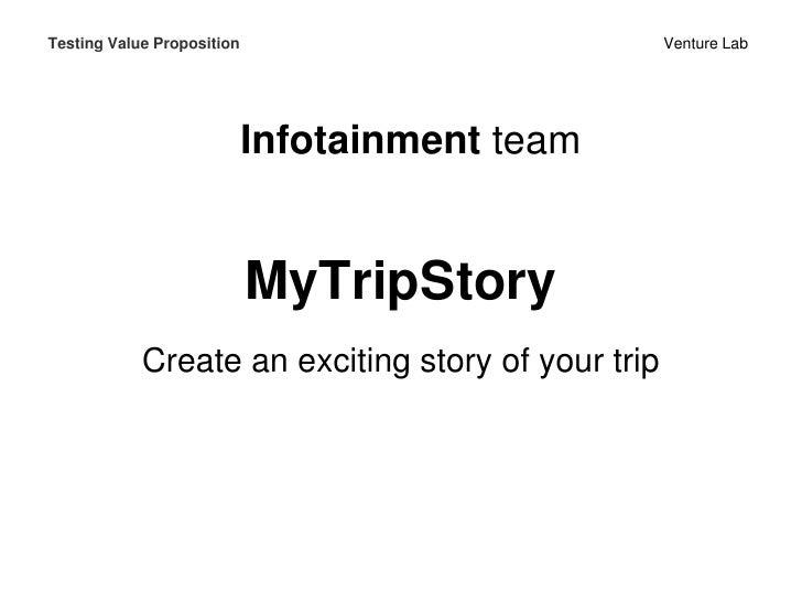 Testing Value Proposition                           Venture Lab                            Infotainment team              ...