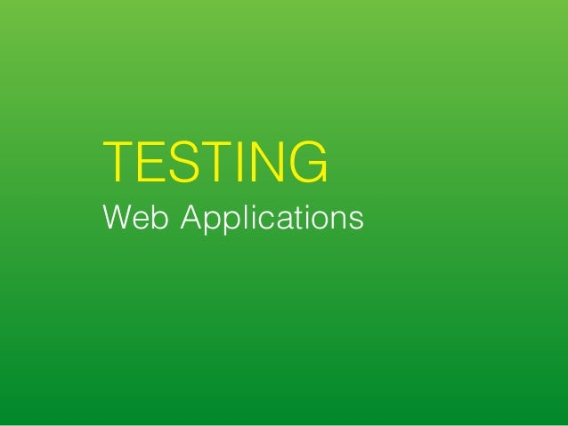 Front-End Testing: Demystified