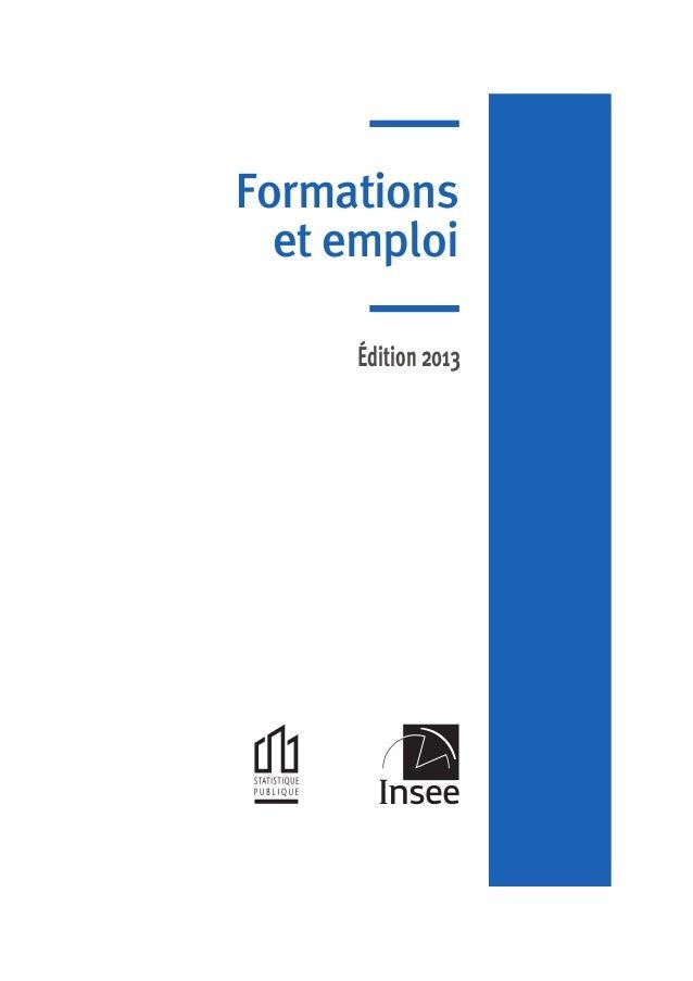 Formations et emploi Édition 2013