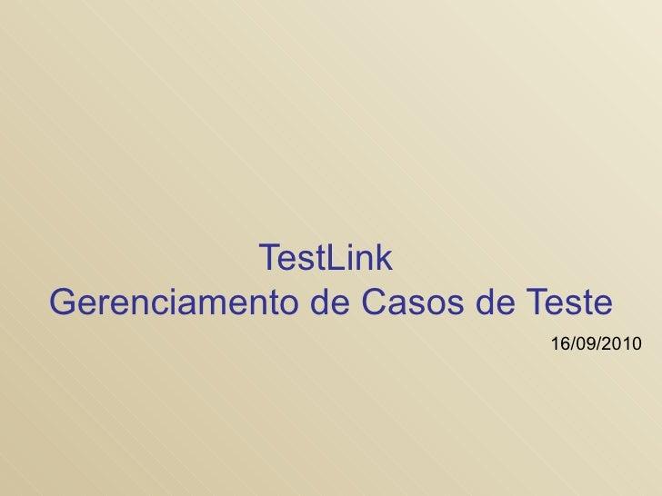 Testlink apresentacao