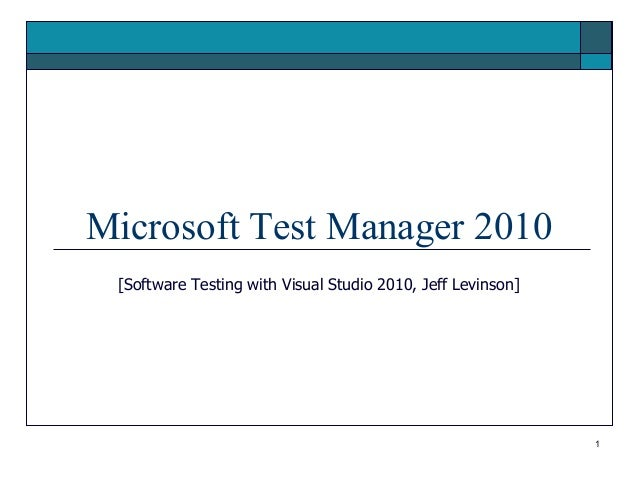 Microsoft Test Manager 2010
