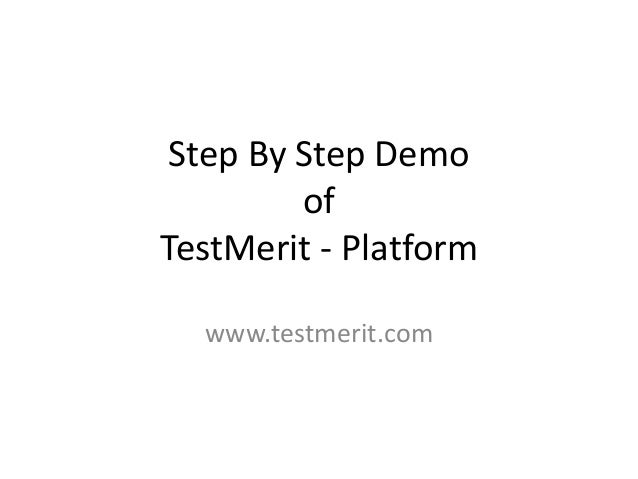 Step By Step Demo of TestMerit - Platform www.testmerit.com