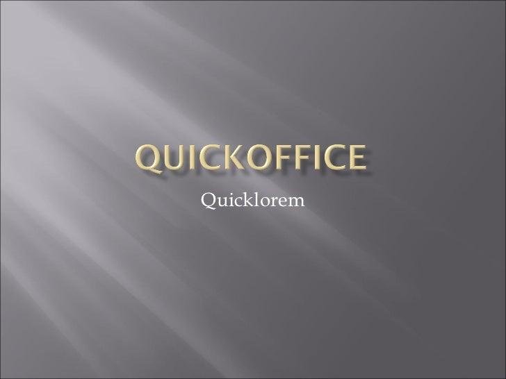 Quicklorem