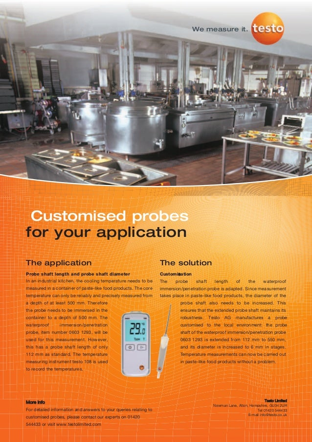Testo   customised probes 108 thermometer