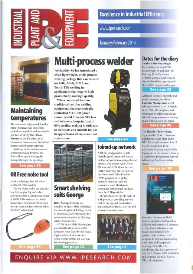 Testo - Industrial Plant and Equipment - Feb 2014