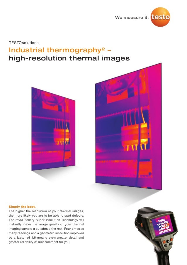 Testo   thermography super-resolution industry