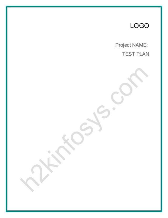LOGOProject NAME:  TEST PLAN