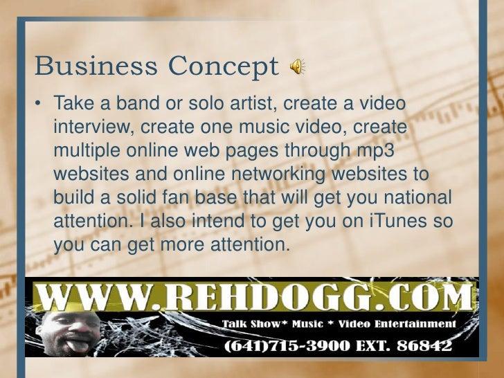 Artist business plan