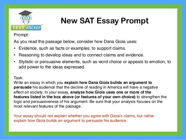 PLEASE help on SAT essay promt?