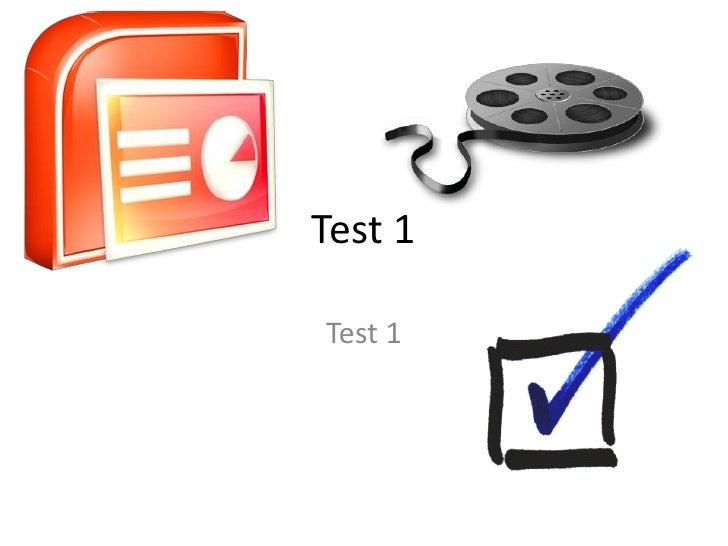 Test 1Test 1