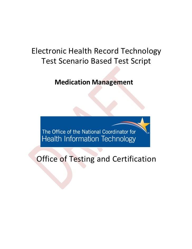 Testscenario medication management_hitsc091912