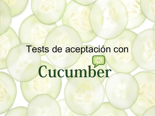 Tests de aceptación con cucumber
