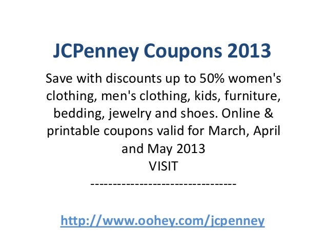 JCPenney Coupons Code March 2013 April 2013 May 2013