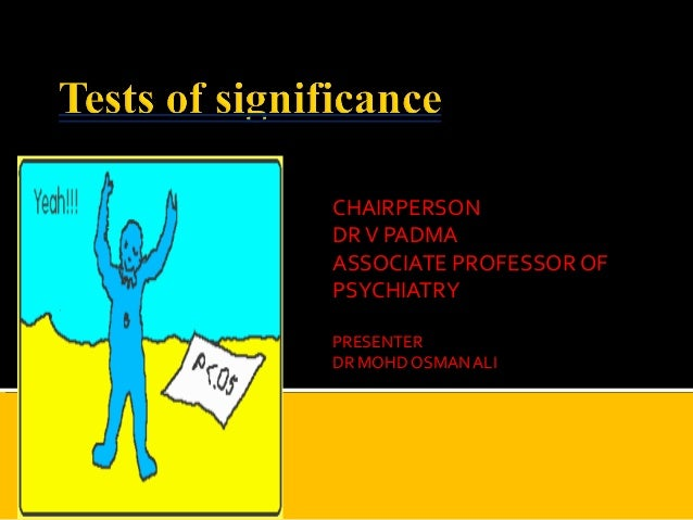 Tests of significance by dr ali2003