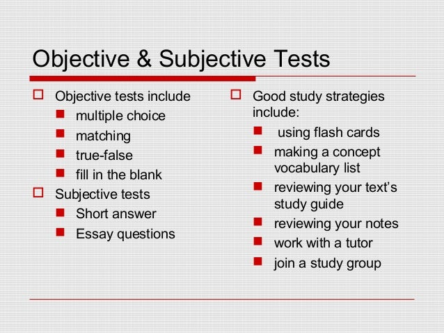 test guide essay
