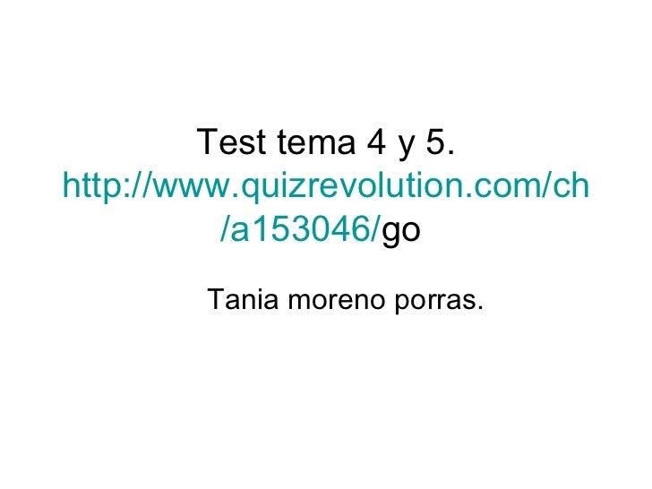 Test tema 4 y 5