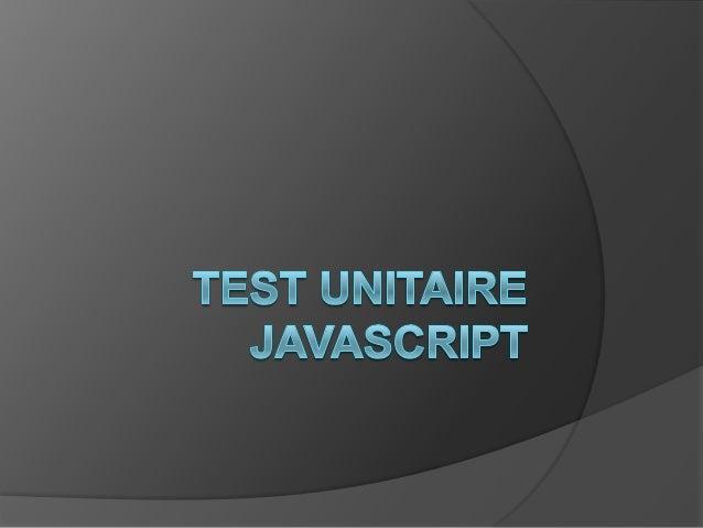 Test unitaire