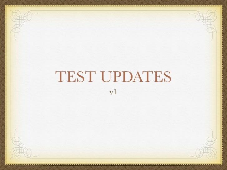 Test update