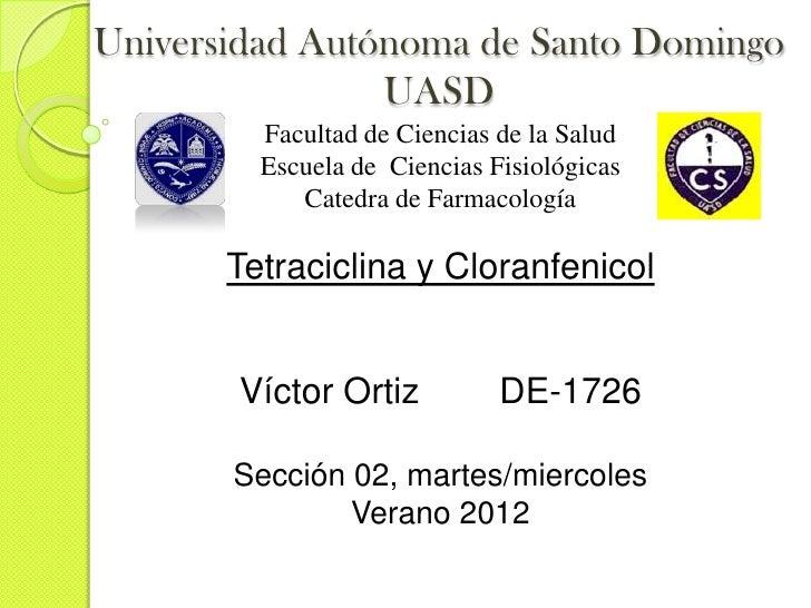 Universidad Autónoma de Santo Domingo                UASD         Facultad de Ciencias de la Salud         Escuela de Cien...