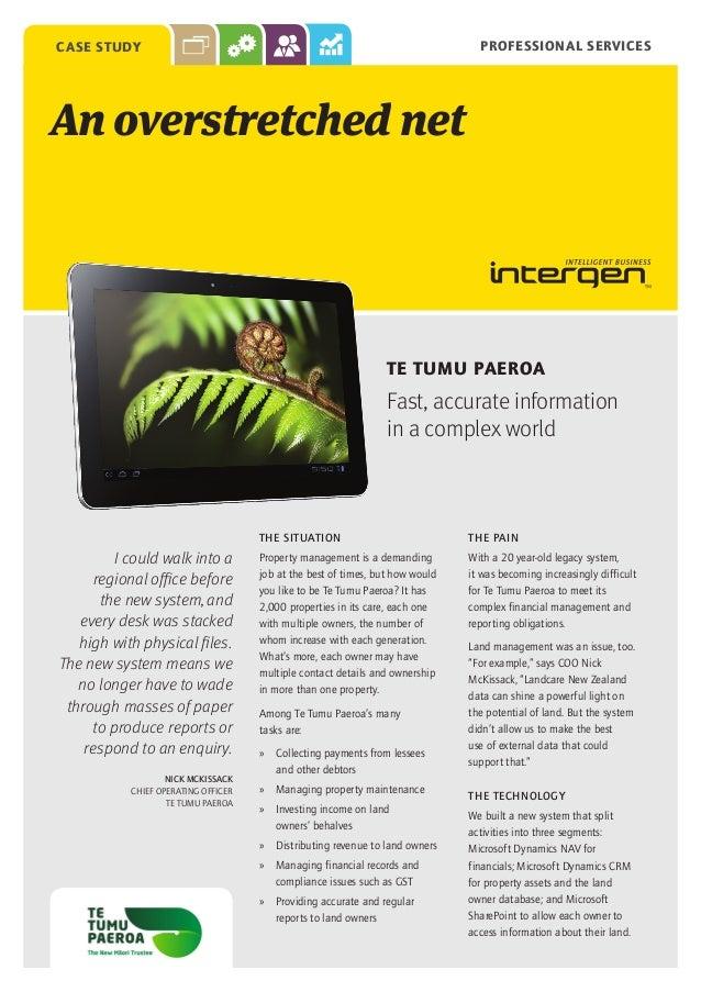 Te Tumu Paeroa (case study)