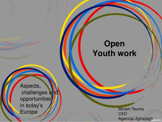 Open                  Youth workAspects, challenges andopportunitiesin today's                       Miriam TeumaEurope   ...