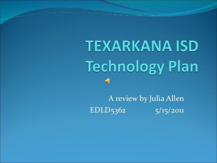 Texarkana ISD Technology Plan