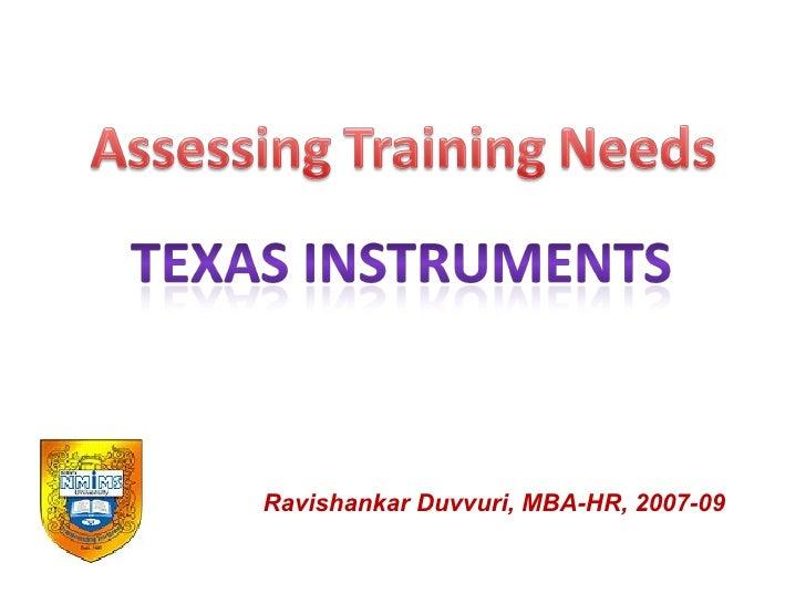 Ravishankar Duvvuri, MBA-HR, 2007-09