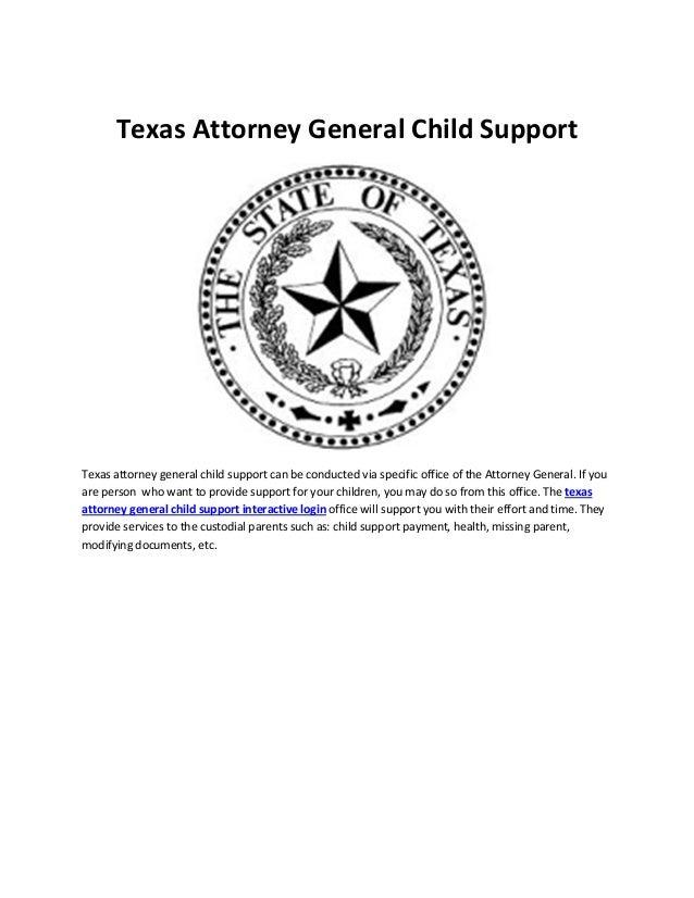 Texas Attorney General Child Support