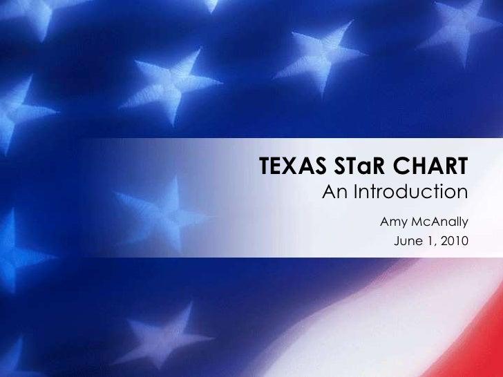 Amy McAnally<br />June 1, 2010<br />TEXAS STaR CHARTAn Introduction<br />