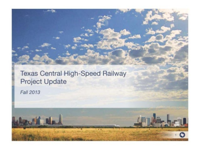 Texas Central High-Speed Railway Project Update