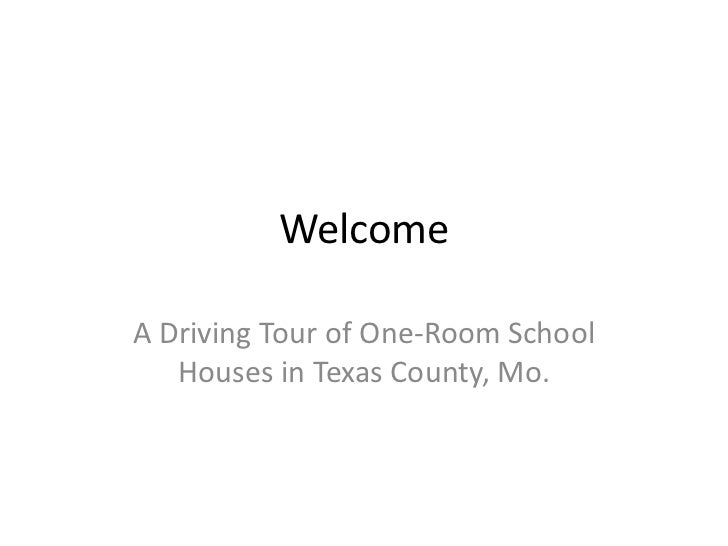 Texas county one room school house tour