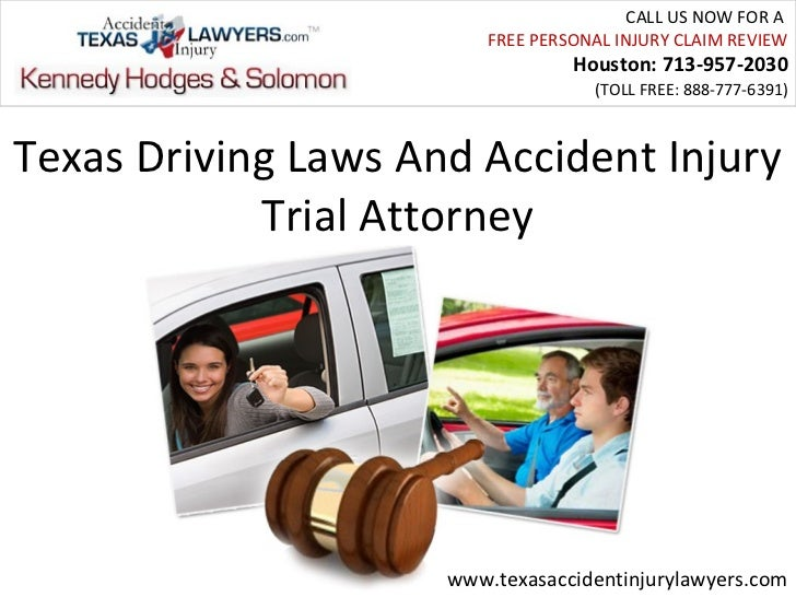 Texas Driving Laws And Accident Injury Trial Attorney
